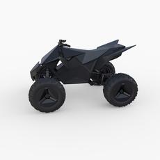 Tesla Cyberquad ATV Black 3D Model