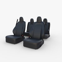 Tesla Model Y Seats Dark 3D Model