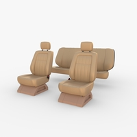 Generic Car Seats Cream 3D Model