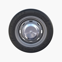 Generic Classic Car Wheel 3D Model