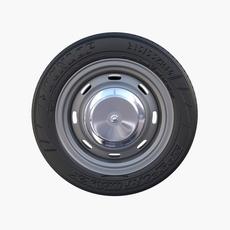 Generic Classic Car Wheel 3D Model