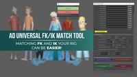 AD UNIVERSAL FKIK MATCH TOOL 1.0.0 for Maya (maya script)