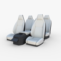 Tesla Cybertruck Seats White 3D Model
