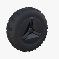 Tesla Cyberquad ATV Wheel 1 3D Model