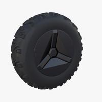 Tesla Cyberquad ATV Wheel 1 3D Model