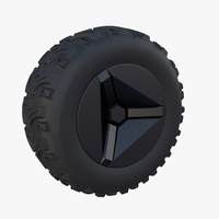 Tesla Cyberquad ATV Wheel 2 3D Model