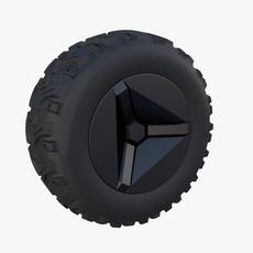 Tesla Cyberquad ATV Wheel 2 3D Model