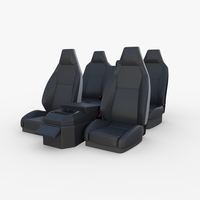 Tesla Cybertruck Seats Dark 3D Model