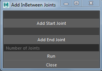 Add Any Number Of Joints Between Two Joints 0.0.1 for Maya (maya script)