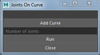 joints on curve 0.0.1 for Maya (maya script)