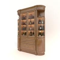 Liquor Cabinet Classic Style 3D Model