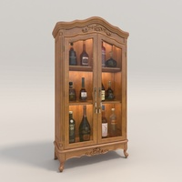 Liquor Cabinet Classic Style 2 3D Model