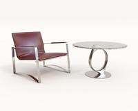 Modern Comfortable Reading Chair 2 3D Model