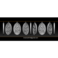 Snake Necklace Pendant 3D Model