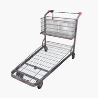 Shopping cart weathered v1 3D Model
