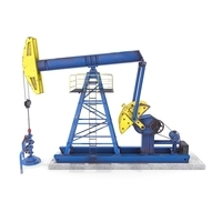 Oil Pumpjack Animated 1 3D Model