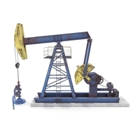 Oil Pumpjack Animated Weathered 1 3D Model