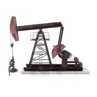 Oil Pumpjack Animated Weathered 2 3D Model
