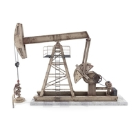 Oil Pumpjack Animated Weathered 3 3D Model