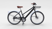 Generic Bicycle Black 3D Model