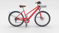 Generic Bicycle Red 3D Model