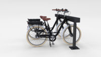 Electric Bicycle and Station Black 3D Model