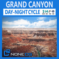 Grand Canyon Environment 3D Model