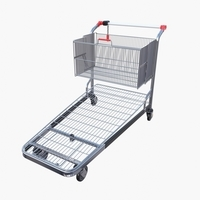 Shopping cart v2 3D Model