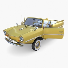Generic 60s Amphibious Car 3D Model