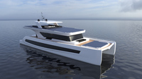 Luxury Solar Catamaran 3D Model