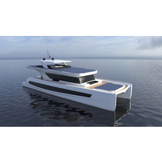 Luxury Solar Catamaran 3D Model
