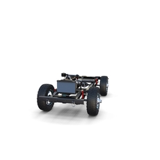 Full Offroad Vehicle Chassis 3D Model