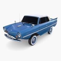 Amphicar 770 Blue Top Up 3D Model