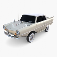 Amphicar 770 Cream Top Up 3D Model