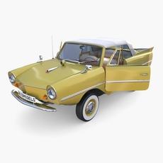 Generic 60s Amphibious w Interior Car Top up 3D Model