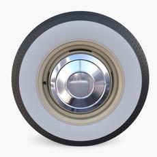 Generic 60s Car Wheel 3D Model
