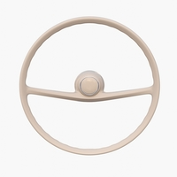Generic 60s Car Steering Wheel 3D Model