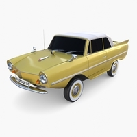Generic 60s Amphibious Car Top up 3D Model