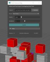 Find and Push Apart Intersecting Geos PRO 1.0.0 for Maya (maya script)