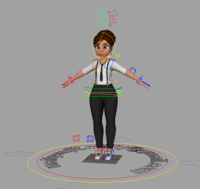 Waitress Rig 1.0.0 for Maya