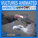 Animated Vultures 3D Model