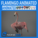 Animated Flamingo 3D Model
