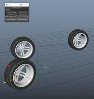 auto wheel rotation maya script 1.0.0 for Maya (maya script)