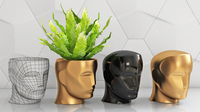 Oscar head, moneybox, vase 3D Model