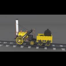 The Stephenson Rocket Locomotive 3D Model