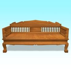 Wood Chair 3D Model