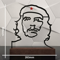 Che Guevara contour sculpture 3D Model