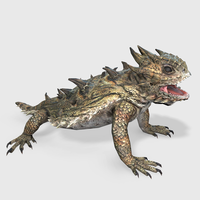 Horned Lizard Animated 3D Model