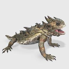 Horned Lizard Animated 3D Model