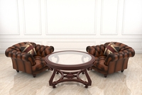 Classic Armchair and Coffee Table 2 3D Model
